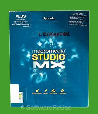 Macromedia Studio MX Win Deutsch Vollversionspaket