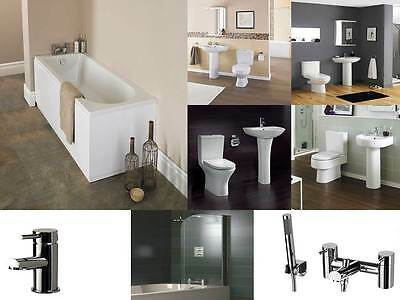 COMPLETE BATHROOM SUITE -CHOICE OF TOILETS & BASINS ADD TAPS, SCREEN from £220