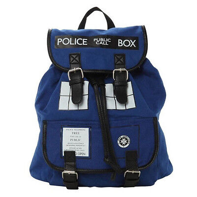 New Doctor Who Tardis Buckle Slouch Bag Purse Police Box Dr Who Backpack