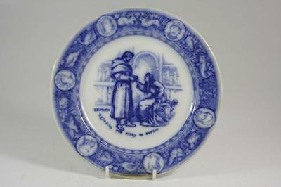 Wedgwood Early Ivanhoe Flow Blue Cabinet Plate C.1880