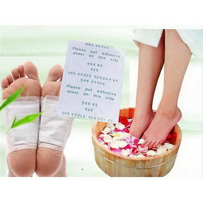100PCS x Detox Foot Pads Patch Detoxify Toxins Adhesive Keeping Fit Health Care