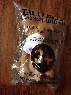 "Taco Bell Chihuhua 6"" Plush Talking Dog ""You are getting hungry"" Napkin Applause"