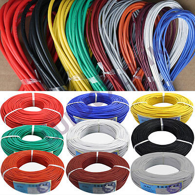 2M Flexible Silicone Wire RC Cable UL 6 8 10 12 14 16 18 20 22 24 26 28 30 AWG