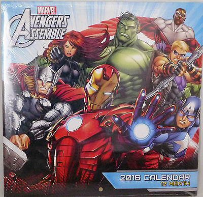 "Marvel Avengers 2016 12-Month Wall Calendar. Full Color 10"" X 10""."