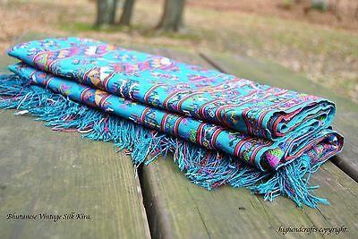 Silk Hand Woven Kira Traditional Bhutanese Fabric One Of A Kind(8.166 Ft)
