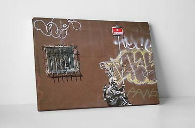 Banksy No Trespassing Indian Gallery Wrapped Canvas