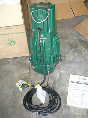 Zoeller 2hp Submersible Sewage Wastewater Grinder Pump E815-C,815-0004  230V 1ph