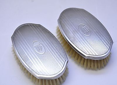 """Antique TWO La Pierre Sterling Silver 3.75"""" Clothes Brushes"""