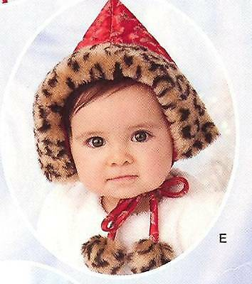 OOP Warm Baby Hat PATTERN Simplicity 3537 Infant Crissy Playpal Hats Cap Bonnet