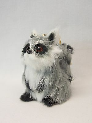Raccoon Soft Furry Body Figurine Christmas Tree Ornament 2 12 In Spring to hang