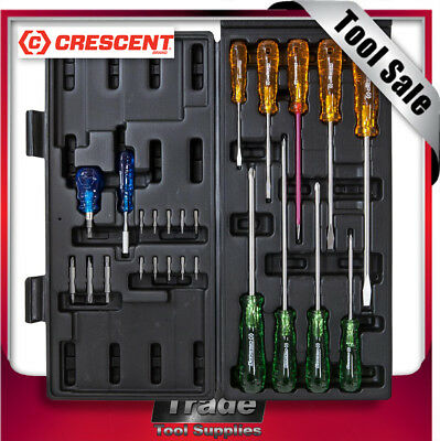 Crescent Screwdriver Set 25 Piece Tri Lobe Acetate Handle CSD25