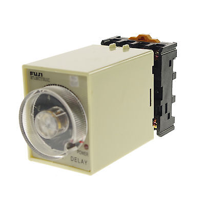 110VAC/DC 60 Minutes  Power Off Delay Time Relay With Socket Base  PF083A