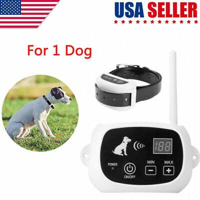 Wireless Dog Fence Collar No-Wire Pet Containment System Rechargeable Waterproof