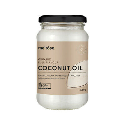Melrose Organic Full Flavour Coconut Oil 380ml | Unrefined Coconut Oil