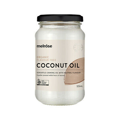 Melrose Organic Flavour Free Coconut Oil 380ml | Refined Coconut Oil