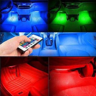Remote/Music/Voice Control LED Neon Car Interior Decorate Atmosphere Light Lamp