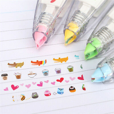 Kids Cute Colorful Stationery Push Correction Tape Lace For Key Tags Xmas Gift