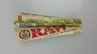 2 Packs of 6 Ea. Classic RAW Rolling Paper Cones Organic Hemp Pre-Rolled 1 1/4