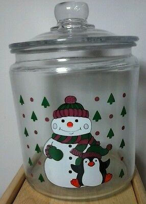 Anchor hocking christmas glass canister NEW