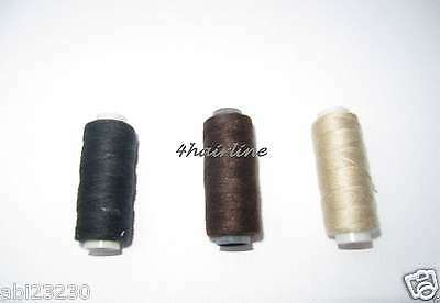 Choose 2 Hair Weft Weaving Sewing Thread Brown Black Blonde for Hair Extensions