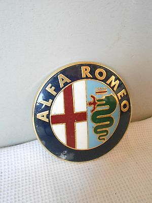 Vintage european CAR Plaque Sign : ALFA ROMEO