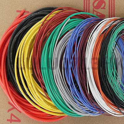 24 AWG Flexible Soft Silicone Wire RC Electronic Cable UL Resistant High Temp
