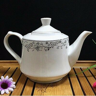 Hand-painted lace white ceramic teapot with a large capacity filter Kung Fu Tea