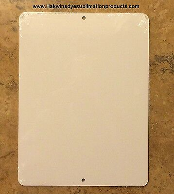 "10 Pieces of PARKING SIGN  ALUMINUM  SUBLIMATION BLANKS 9""x 12"" / WITH HOLES"