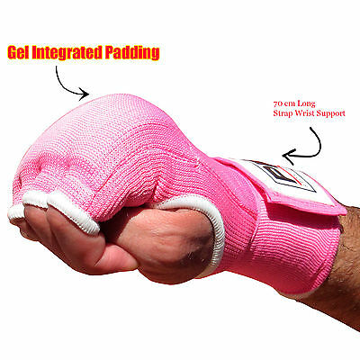 Pink Gel Boxing Inner Handwraps Gloves Hand Fist Protection Bandages Ladies