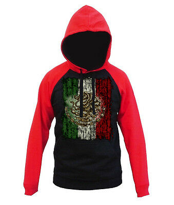 Men/'s Proud Mexico Flag Black Hoodie Mexican Pride MMA Sweater S-5XL