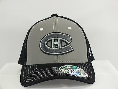 Montreal Canadiens Nhl Adult Flex Fit M/l Preshaped New Hat Cap By Zephyr A119