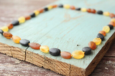 Multicolored Raw Baltic amber necklace. MAXIMUM effective