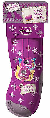 Whiskas Christmas Xmas Cat Stocking with Treats and Toy