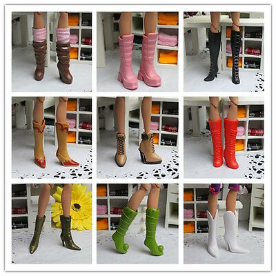 Handmade High quality Original 4 pairs boot shoes for barbie doll A100