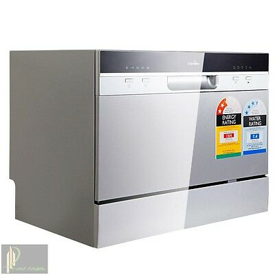 5 Star Chef Electric Benchtop Dishwasher Silver Water and Energy Efficient