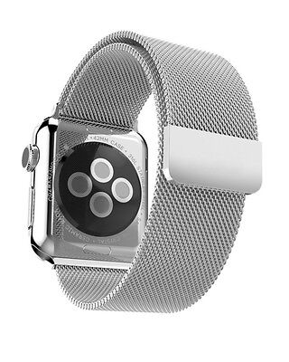 Aviato Apple Watch 38 mm Magnetic Milanaise Armband - Silber