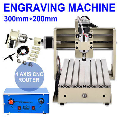 4 Axis CNC Engraver Mill Wood DIY Router Kit Engraving PCB Milling Machine