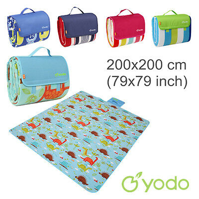 Yodo Extra Large Picnic Blanket 200x200 Outdoor Mat Waterproof Pad Camping Rug