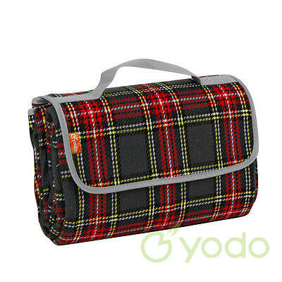 Yodo Picnic Blanket Tote 150x135 Outdoor Mat Pad Camping Rug Waterproof Backing