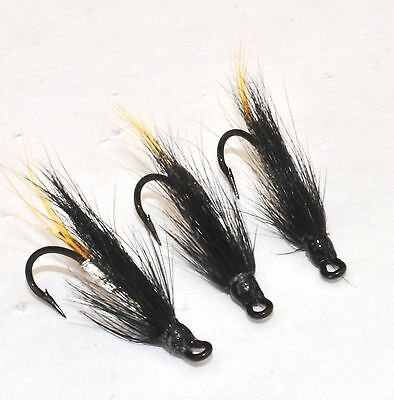 Naughty Girl x 3 salmon flies doubles and trebles sizes 8 10 and 12