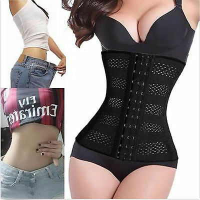 Body Shaper Latex Rubber Waist Trainer Cincher Underbust Corset Shapewear Women