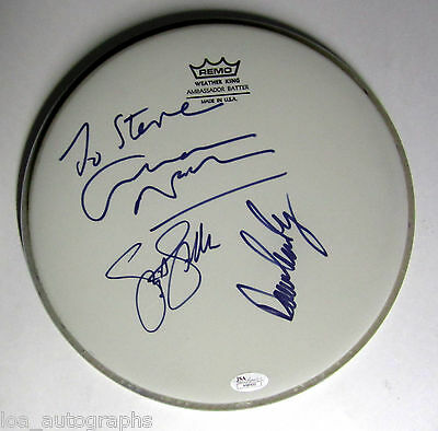 "Crosby Stills & Nash REAL hand SIGNED 10""  Drumhead JSA Full LOA all 3 David"