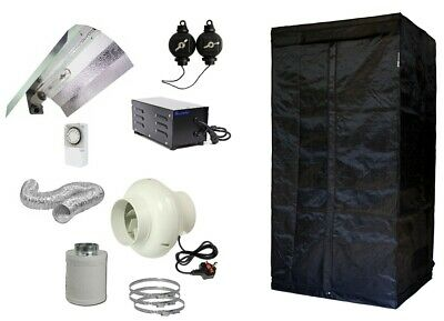 Complete Hydroponic Grow Room Tent Fan Filter HPS Light Kit 600 watt 80x80x180