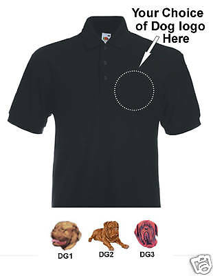 Poloshirt embroidered Dogue de Bordeaux French Mastiff
