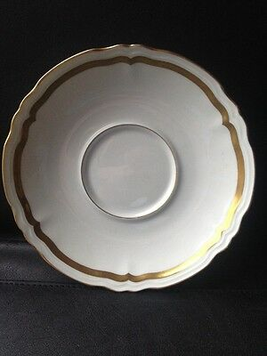 "RAYNAUD & CO. LIMOGES MARIE ANTOINETTE GOLD Saucer 6 1/4"" WHITE WITH GOLD RIM"