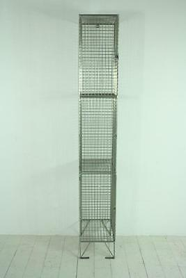 Vintage Industrial Wire Mesh Locker Shelving Unit #1394