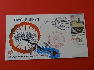 WWII FDC #26 Pearl Harbor Hawaii * Japan Attack * Akagi * 50th Anniversary