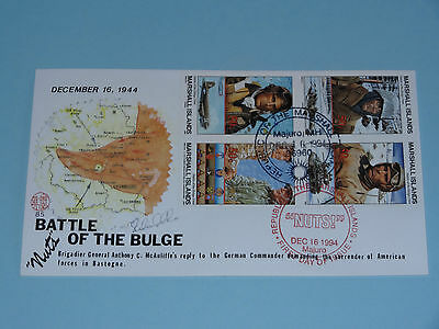 WWII FDC #85 Bastogne Germany Battle Bulge Abrams Nuts * 50th Anniversary