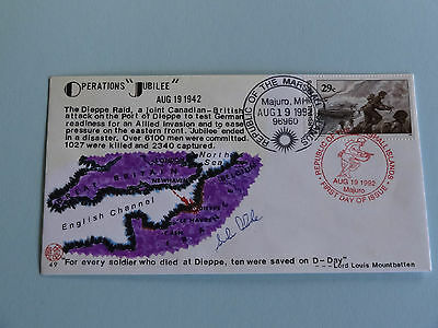 WWII FDC #49 Canada Britain Germany Dieppe Raid Jubilee * 50th Anniversary