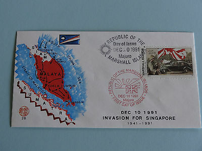 WWII FDC #28 Malaya * Invasion for Singapore * Sumatra 1941 * 50th Anniversary